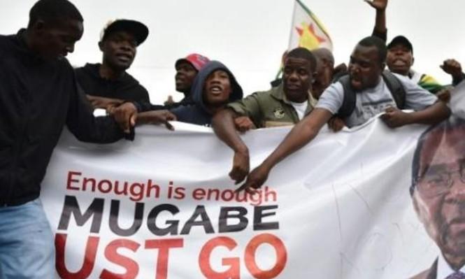 موغابي يلتقي الجيش على وقع تظاهرات تطالب باستقالته