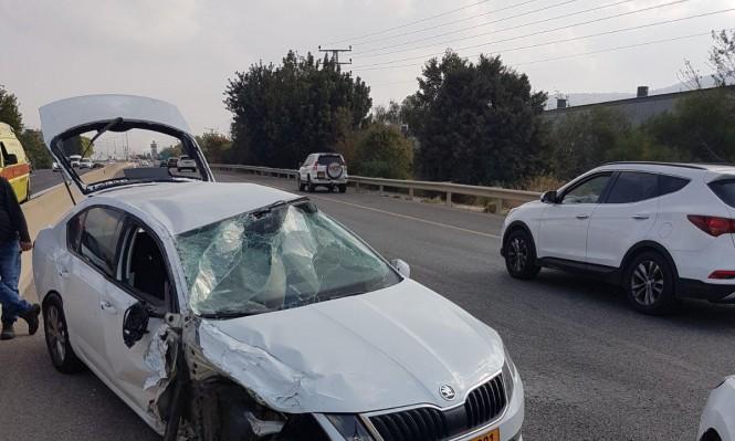 إصابة شخص في حادث طرق قرب نحف