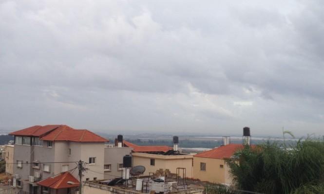 حالة الطقس: منخفض جوي وهطول أمطار بجميع أنحاء البلاد