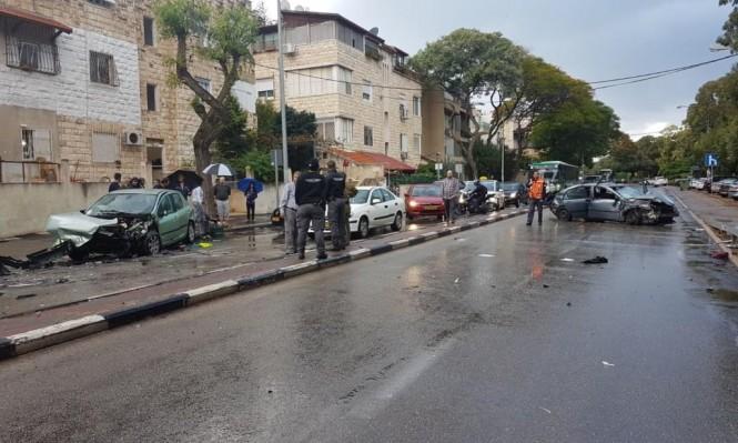 حيفا: 4 إصابات بينها خطيرة في حادث طرق