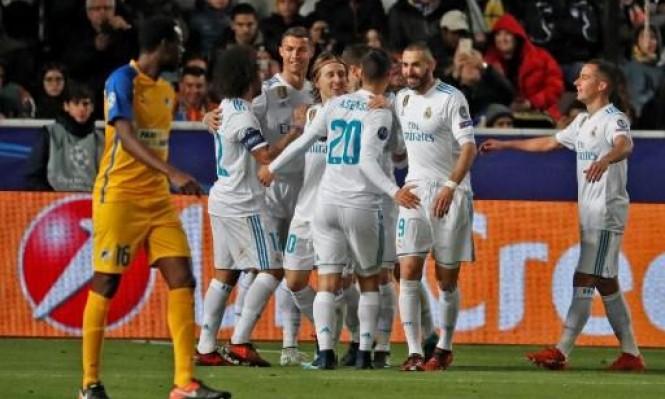 ريال مدريد يتأهل لثمن نهائي دوري الأبطال