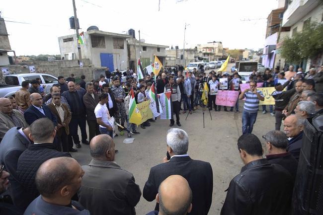 قلقيلية: وقفة تضامنية مع الأسير المريض جهاد أبو هنية