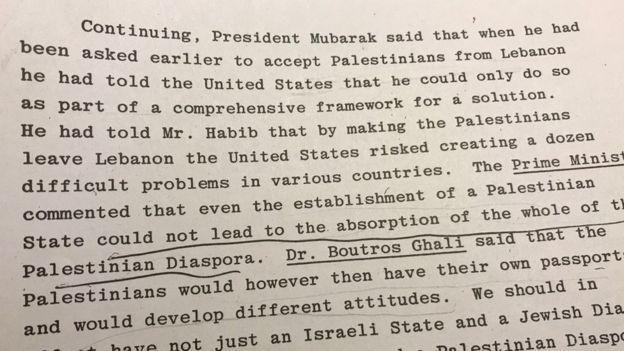 وثائق: مبارك قبل طلب واشنطن توطين لاجئين فلسطينيين بمصر