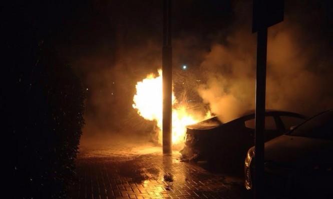 عكا: اندلاع النيران في سيارة خصوصية
