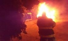 مجهولون يشعلون النيران في سيارة مواطن من كفركنا