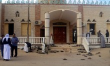 أول إقامة لصلاة الجمعة في مسجد الروضة بعد الهجوم الإرهابي