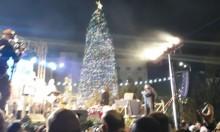 الناصرة تضيء شجرة الميلاد بمناسبة عيد الميلاد المجيد
