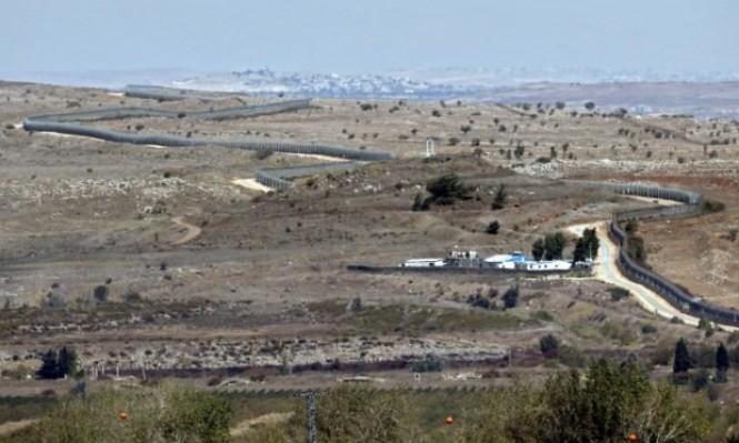 سقوط قذيفة في منطقة مفتوحة بالجولان السوري المحتل