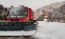 الثلوج تتراكم في جبل الشيخ (فيديو)
