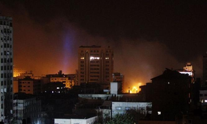 الاحتلال يقصف 4 مواقع في قطاع غزة