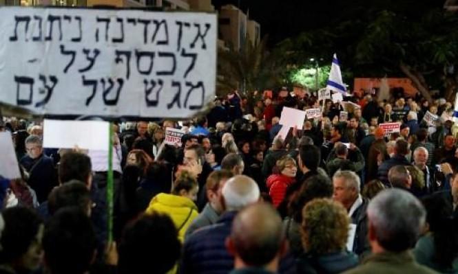 عشرات آلاف في تل أبيب: نتنياهو إلى السجن