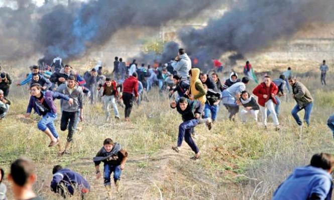 جرحى بتجدد المواجهات مع الاحتلال شرق خانيونس