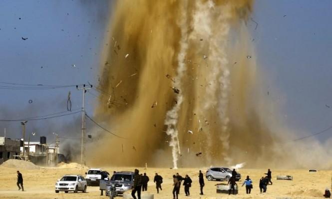 الاحتلال يقصف شرق خانيونس بذريعة الرد على إطلاق صاروخ