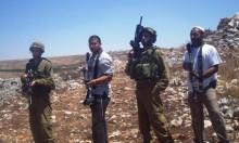 عشرات المستوطنين يهاجمون المواطنين الفلسطينيين في قرية بورين