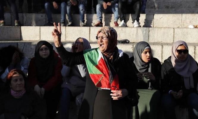 الاحتلال يفض اعتصامًا بالقوة في باحة باب العامود