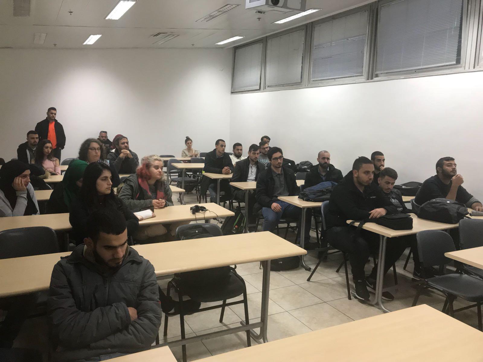 التجمع الطلابي في جامعة حيفا ينظم ندوة عن الانتفاضة