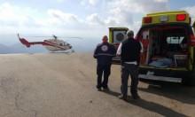 بيت جن: نقل عامل بمروحية طبية إثر إصابته الخطيرة