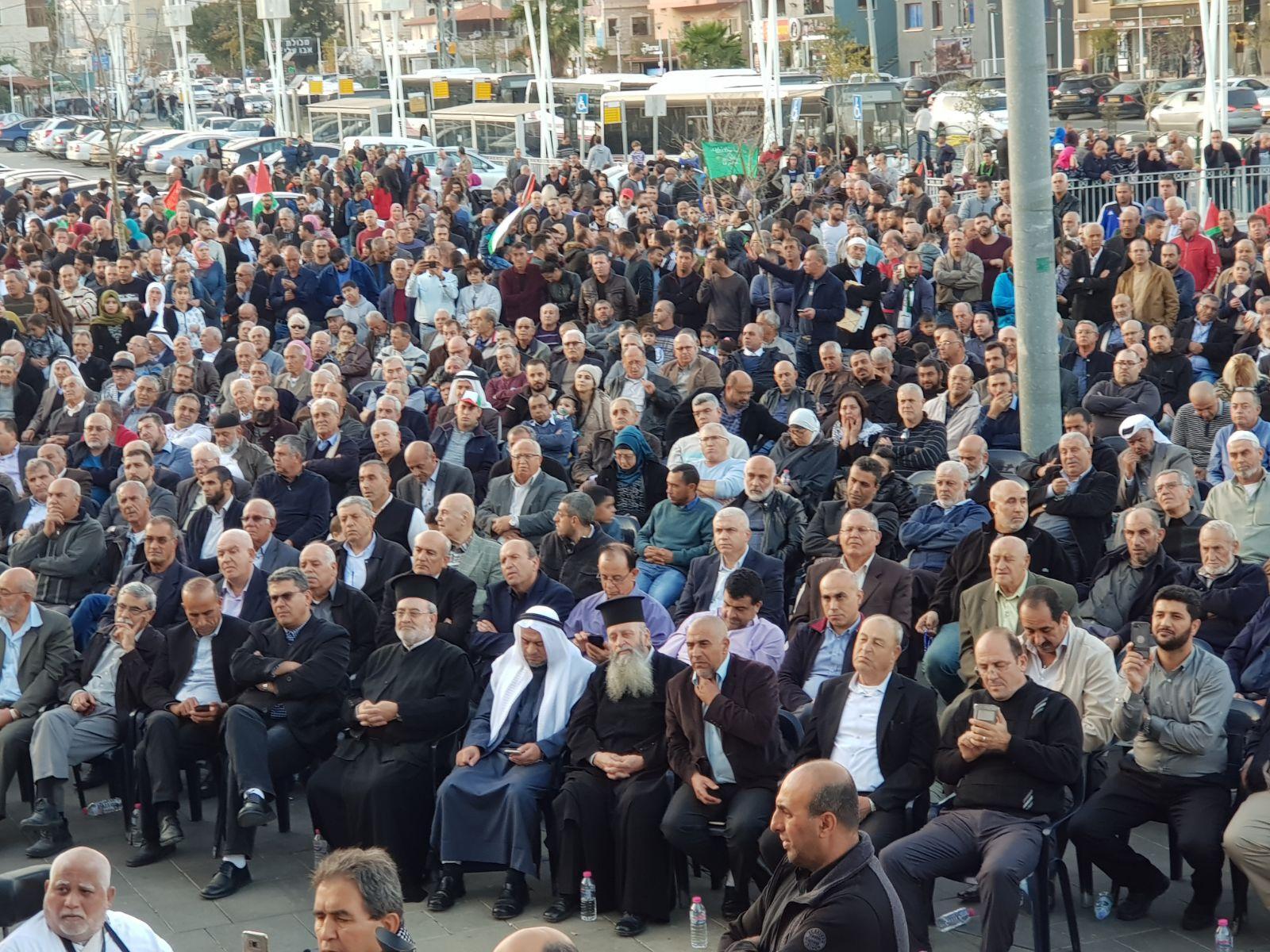 """مظاهرة ومهرجان حاشدان في سخنين: """"القدس عاصمة فلسطين"""""""