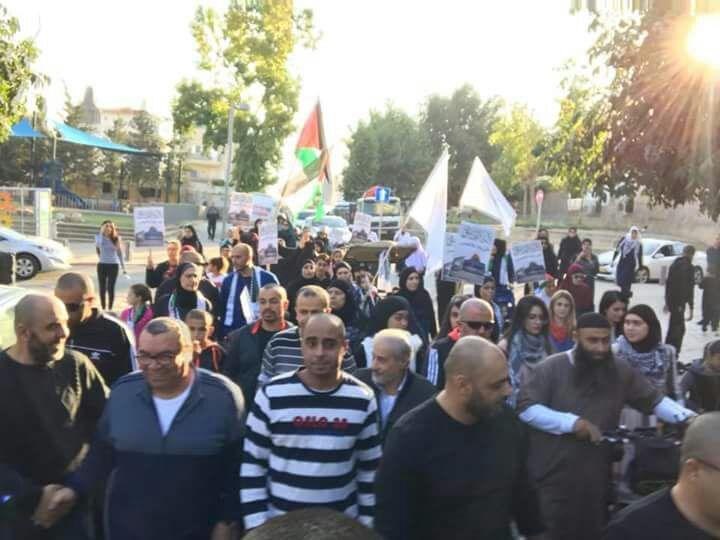 """يافا: مئات بمسيرة """"القدس لنا"""" رفضا لقرار ترامب"""