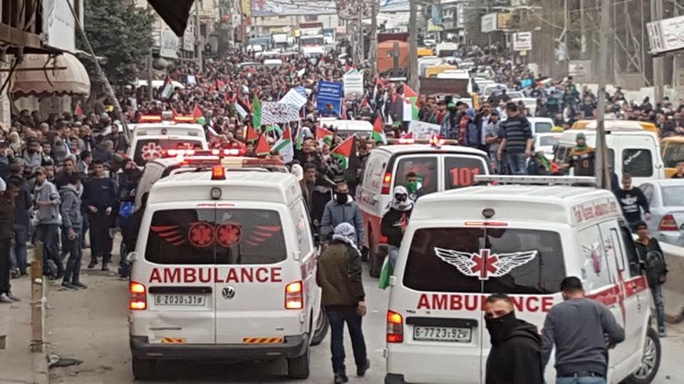 إصابات خلال قمع الاحتلال لمسيرات منددة بقرار ترامب