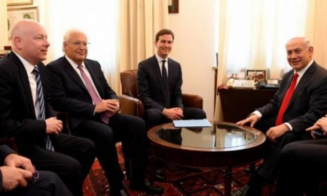 مبعوث ترامب يلتقي نتنياهو على وقع احتجاجات الفلسطينيين