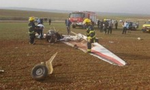 مصرع رجل في تحطم طائرة خفيفة قرب العفولة