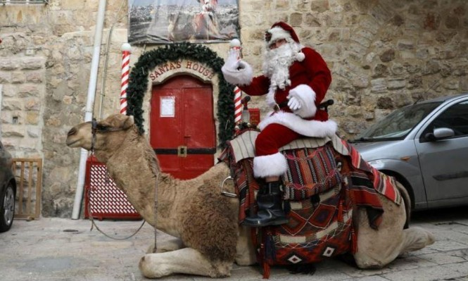 تحديا لقرار ترامب: سانتا كلوز يرسم الفرح على وجوه أطفال القدس