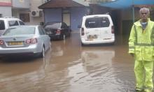 عرابة: مياه الأمطار تحاصر منزل مأهول