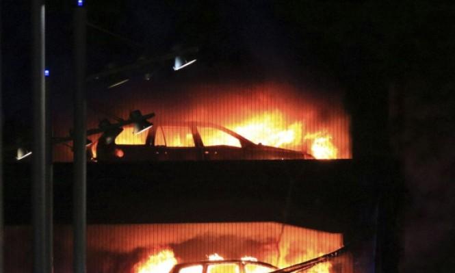 حريق ضخم يدمر نحو 1400 سيارة في بريطانيا