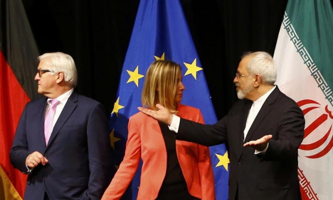 ظريف يبحث ببروكسل سبل الحفاظ على الاتفاق النووي