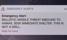 """""""هاواي تتعرض لصاروخ بالستي"""": إنذار كاذب يحبس الأنفاس"""