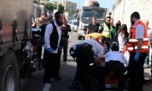 حيفا: إصابة سائق دراجة نارية في حادث طرق