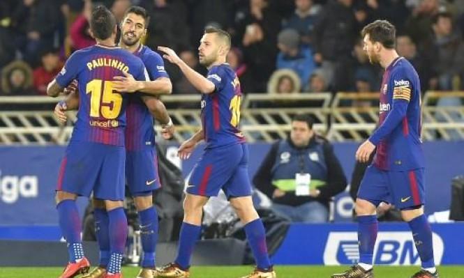 برشلونة يحدث المنقلب أمام ريال سوسييداد