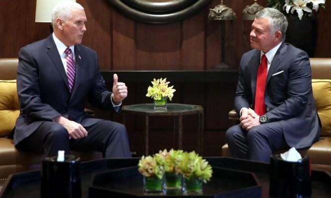 """بنس يقول إنه وملك الأردن """"اتفقا على أنهما مختلفان"""""""