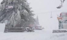 ثلوج وأمطار غزيرة: إغلاق جبل الشيخ بسبب العاصفة