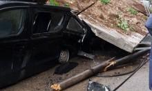 طمرة: انهيار حائط على 3 سيارات