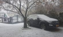 تساقط الثلوج في الجش والريحانية وبيت جن