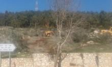 عين ماهل: تجريف أراض واقتلاع أشجار زيتون