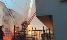 الطيبة: حريق في بناية سكنية وتخليص عالقين