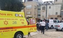 اللد: إصابة مسنة في حريق