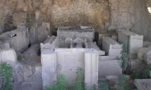 اكتشاف مقبرة أثرية بيزنطية غرب نابلس