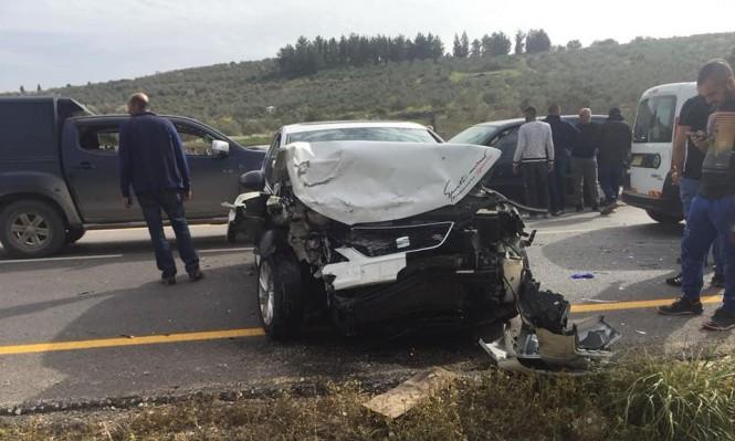 7 إصابات في حادثي طرق قرب الرامة ومعاوية