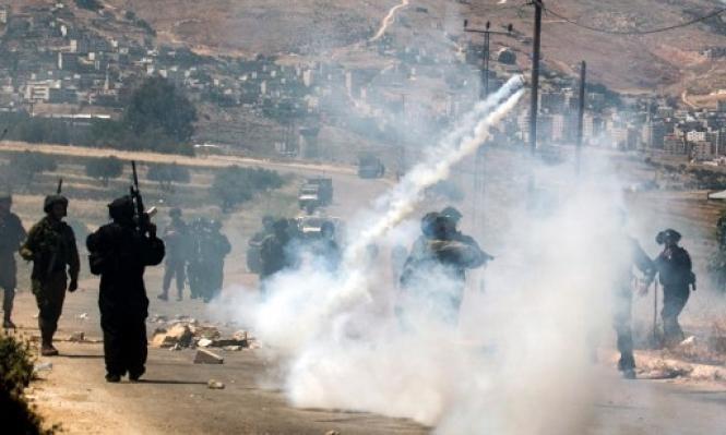 إصابة 4 فلسطينيين خلال مواجهات مع  الاحتلال شرق نابلس