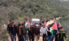 إصابات بقمع الاحتلال فعالية مناهضة للاستيطان جنوب نابلس