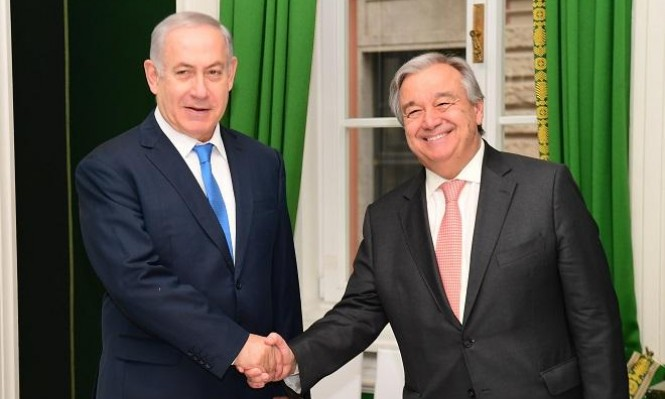 نتنياهو للأمين العام الأمم المتحدة: الجولان لإسرائيل للأبد