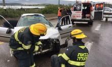 إصابتان في حادث طرق على شارع 77