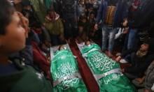 غزة تشيع شهيدي القصف الإسرائيلي
