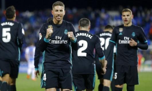ريال مدريد يفوز على ليغانيس ويعتلي المركز الثالث