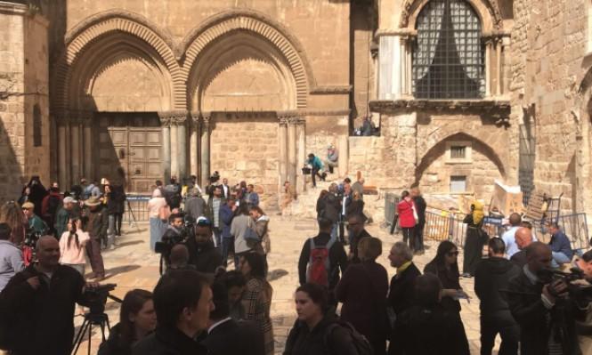 إغلاق كنيسة القيامة احتجاجًا على خطة مصادرة أراضي الكنائس