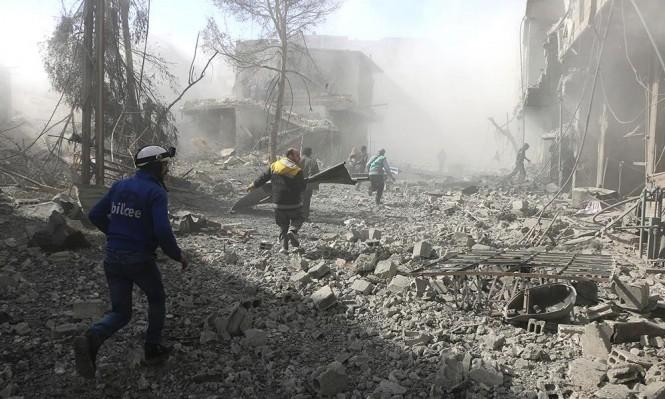 النظام يستخدم غاز الكلور ضد المدنيين بالغوطة الشرقية